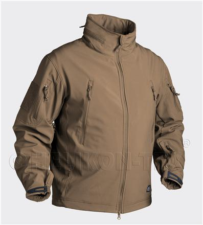 Bunda nepromokavá - GUNFIGHTER - Soft shell - Coyote - Helikon