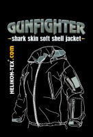 Bunda nepromokavá - GUNFIGHTER - Soft shell - Oliv, Helikon